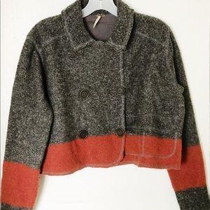 Free people vintage block colors wool short coats